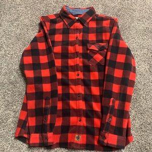 NEW! Legendary Whitetail Red & Black Flannel Shirt